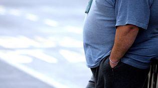 Une personne en surcharge pondérale. Photo d'illustration. (PAUL ELLIS / AFP)