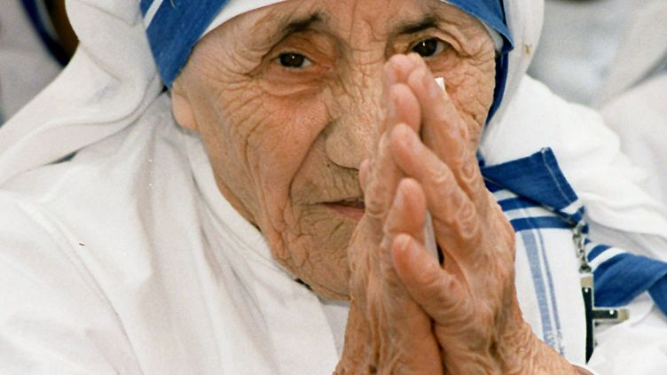 Mère Teresa le 15 mai 1997 à New Delhi (Inde). (RAVI RAVEENDRAN / AFP)