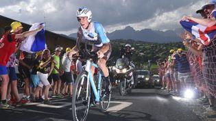 Le Français Romain Bardet durant la 18e étape du Tour de france entre Sallanches et Megève, le 21 juillet 2016. (DE WAELE TIM / TDWSPORT SARL / AFP)