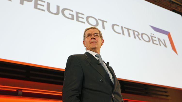 Philippe Varin, président du directoire de PSA Peugeot Citroën, lors de la présentation des résultats 2012 du groupe, le 13 février 2013 à Paris. (CHARLES PLATIAU / REUTERS)