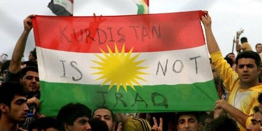Revendication nationaliste kurde en 2012 à Erbil, en Irak, lors d'un match de foot. (SAFIN HAMED)