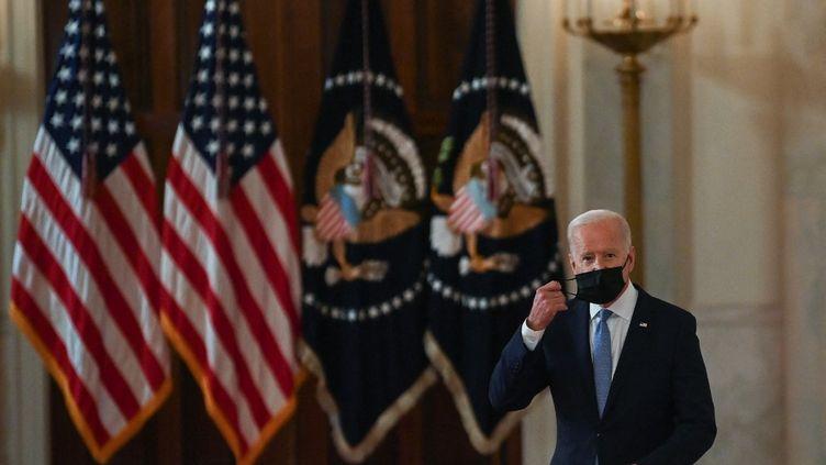 Le président américain Joe Biden, le 31 août 2021 à la Maison Blanche à Washington (Etats-Unis). (BRENDAN SMIALOWSKI / AFP)