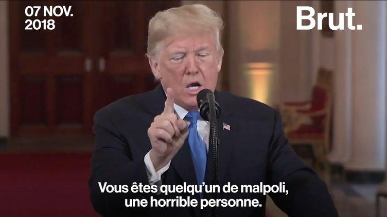 """VIDEO. """"CNN devrait avoir honte que vous travailliez pour eux"""" : échange musclé entre Donald Trump et un journaliste (BRUT)"""