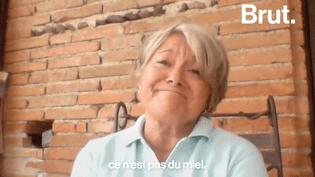 Brut a interrogé Pascalle Goussé, une apicultrice qui dénonce la qualité du miel en France. Selon elle, une grande partie du miel vendu serait faux. (Brut)