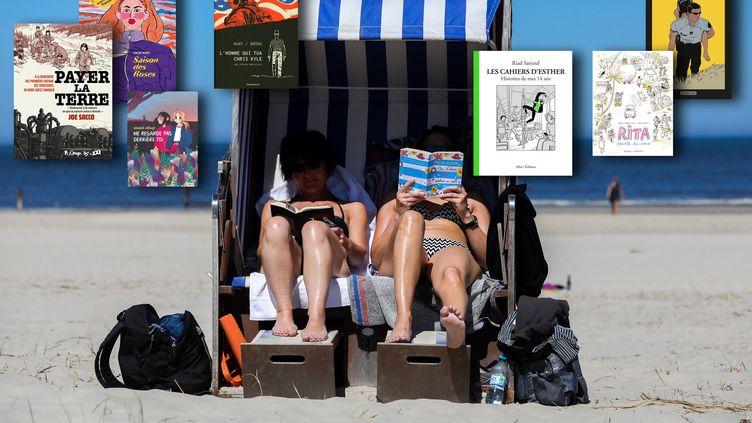 Femmes lisant à la plage, mer du Nord, Allemagne (PICTURE ALLIANCE / GETTY IMAGES)