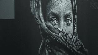 Le street artiste Nasti expose ses oeuvres en ce moment à l'Institut Culturel Bernard Magrez  (Culturebox - capture d'écran)