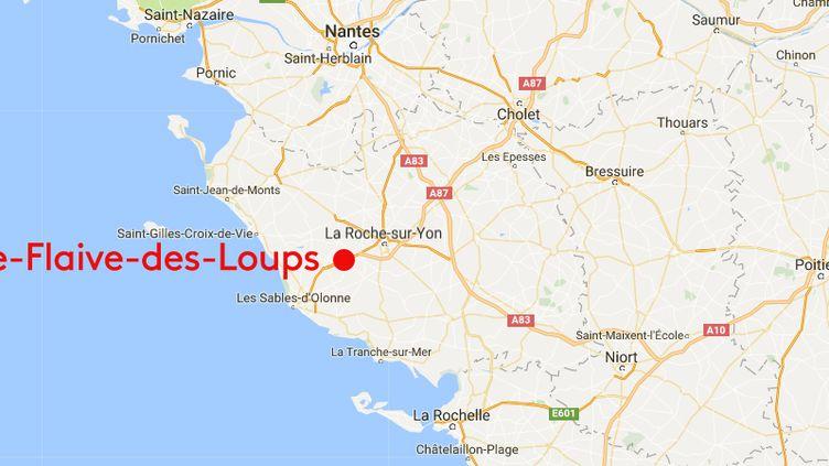 Sainte-Flaive-des-Loups en Vendée (FRANCEINFO / GOOGLE MAP)