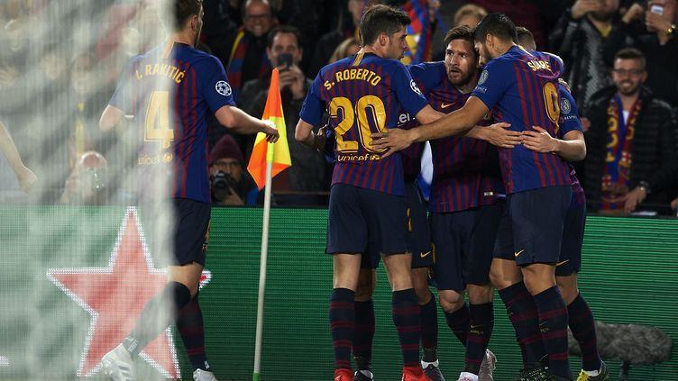 Match entre Barcelone et Manchester United en quart de finale de la Ligue des Champions, le 16 avril 2019. (JOSE BRETON / NURPHOTO / AFP)