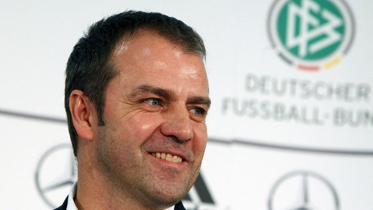 Hansi Flick a signé un contrat de trois années avec la Mannschaft, mardi 25 mai 2021. (DANIEL ROLAND / AFP)