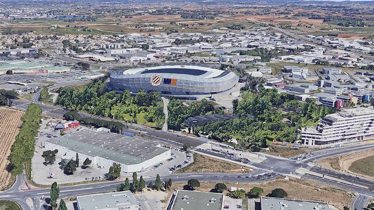 Photo montage illustrant le futur lieu d'implantation du nouveau stade. (Ville de Montpellier)