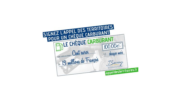 Capture d'écran du site lancé par les députés Damien Abad et Guillaume Peltier pour réclamer la création d'un chèque carburant, dimanche 4 novembre 2018. (APPEL DES TERRITOIRES)
