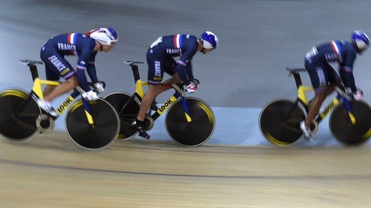 La France est à la pointe de la technologie avec ses vélos Look L96 (ERIC FEFERBERG / AFP)