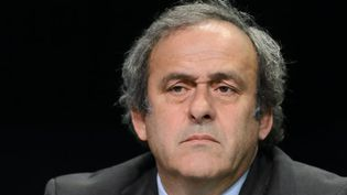 "Michel Platini a accordé une interview au quotidien suisse ""Le Matin"". (FABRICE COFFRINI / AFP)"