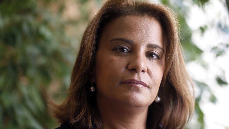 L'avocate Samia Maktouf, le 11 juin 2014.. (THOMAS SAMSON / AFP)