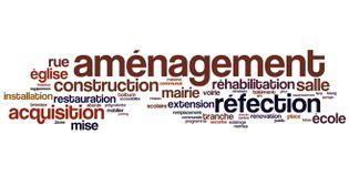 Les mots les plus représentés dans la colonne nature du projet. (FRANCETV INFO)