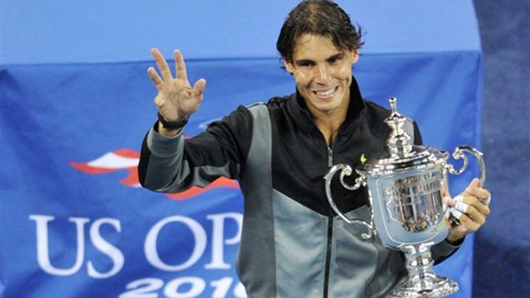 Rafael Nadal heureux après la conquête de son premier US Open
