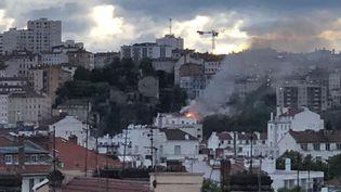 Unviolent incendie d'habitation s'est déclaré le 30 avril 2020, au 4e étage d'un immeuble rue Bonnafous dans le 4e arrondissement de Lyon (Rhône). (DR)