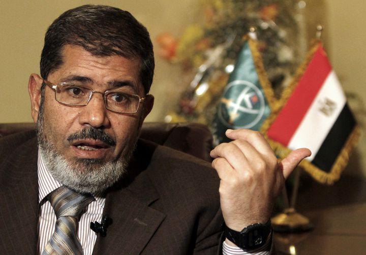 Mohamed Mursi, le leader du parti Liberté et justice, bras politique des Frères musulmans égyptiens, le 28 mai 2011 au Caire (Egypte). (MOHAMED ABD EL-GHANY / REUTERS)