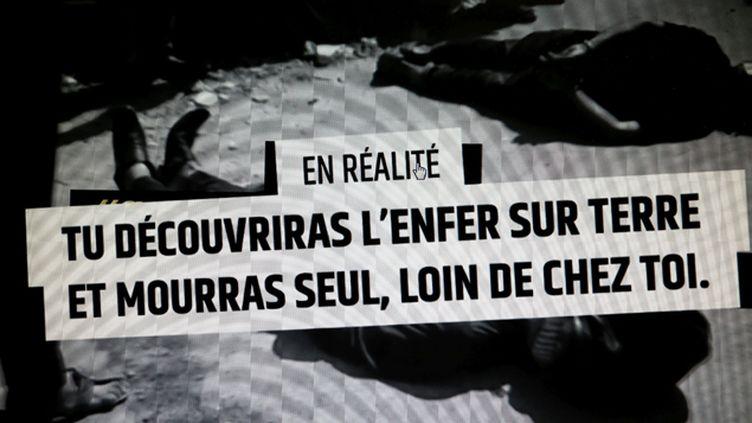 (Le gouvernement français a mis en ligne une vidéo pour avertir les jeunes aspirants au djihad de la dure réalité qui, souvent, les attend lorsqu'il s'engagent © Maxppp)