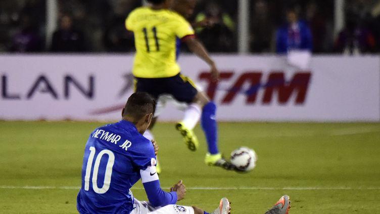 Le Brésil orphelin de Neymar jusqu'à la fin de la compétition (LUIS ACOSTA / AFP)
