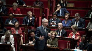 Bruno Le Maire lors des questions au gouvernement à l'Assemblee nationale, le 18 Octobre 2017 (NICOLAS MESSYASZ / SIPA)