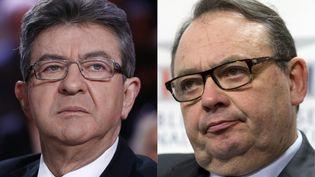 Jean-Luc Mélenchon et Patrick Mennucci. (PATRICK KOVARIK / AFP)