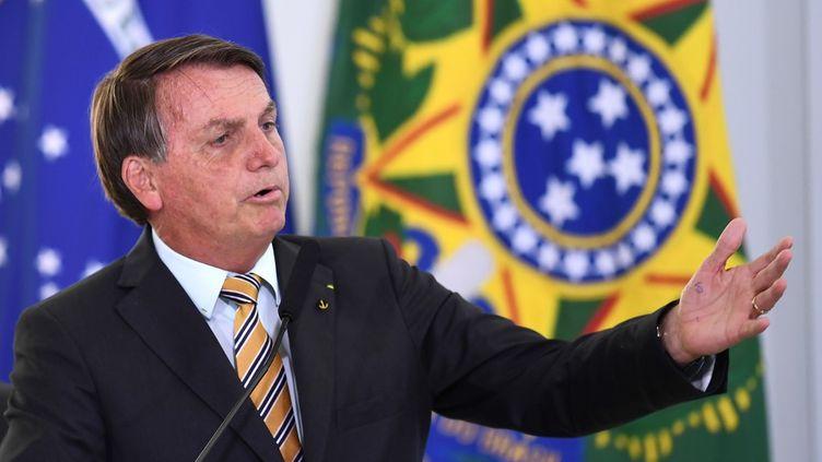 Le président du Brésil, Jair Bolsonaro, à Brasilia, le 10 novembre 2020. (EVARISTO SA / AFP)