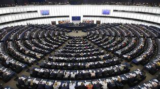 Le Parlement européen lors d'une session plénière, le 26 mai 2019 à Strasbourg (Bas-Rhin). (FREDERICK FLORIN / AFP)