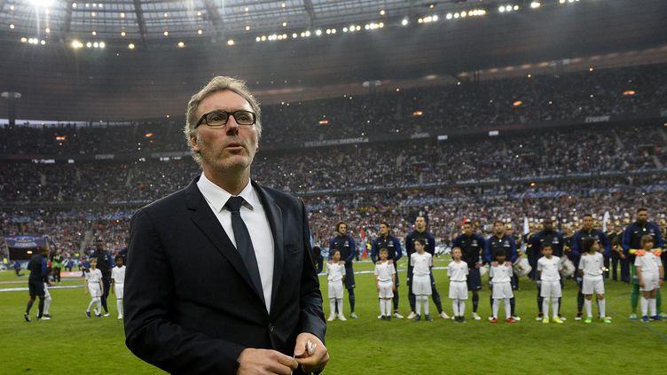 Laurent Blanc lors de son dernier match avec le PSG, la finale de la Coupe de France contre l'OM (FRANCK FIFE / AFP)