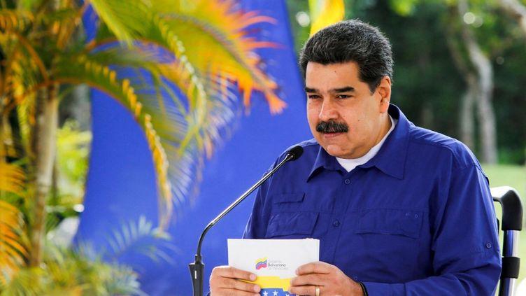 Le président du Vénézuela, Nicolas Maduro, à Caracas, le 21 mars 2021. (JHONN ZERPA / VENEZUELAN PRESIDENCY / AFP)