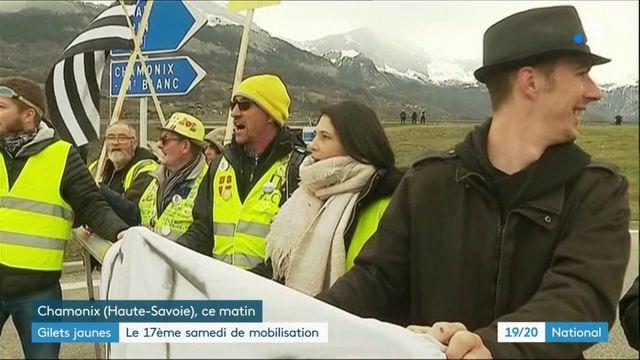 """""""Gilets jaunes"""" : mobilisation en baisse pour l'acte 17"""