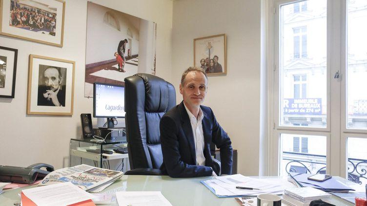 Fabien Namiasà Paris, le 2 janvier 2017 (lorsqu'il était directeur de l'information d'Europe 1). (OLIVIER CORSAN / MAXPPP)