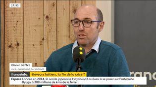 Olivier Gaffet,levice-président de Sodiaal, était l'invité de l'interview éco vendredi 22 février. (FRANCEINFO)