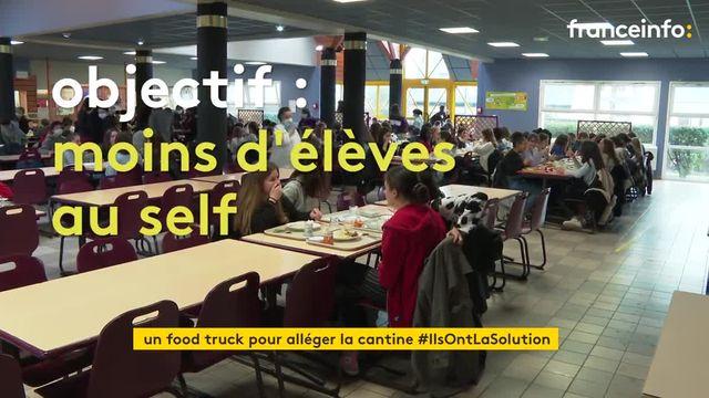 Un foodtruck dans un lycée nantais pour réduire le nombre d'élèves à la cantine