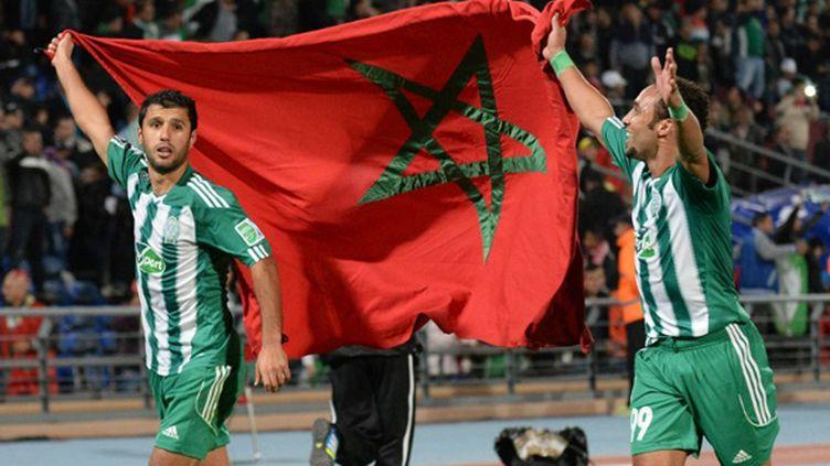 Les joueurs du Raja Casablanca heureux (FADEL SENNA / AFP)