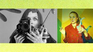 """Ouka Leele : à gauche, autoportrait - à droite, """"Autorretrato con agua"""" (Autoportrait avec eau), 1980 (© Ouka Leele / VU)"""