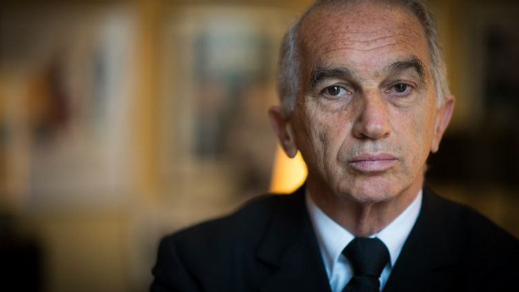 Le producteur français Alain Terzian, le 10 javier 2014 à Paris. (MARTIN BUREAU / AFP)