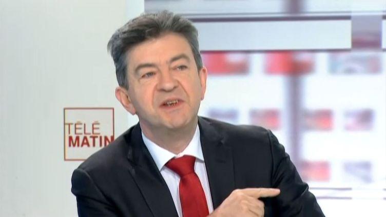 Le coprésident du Parti de gauche, Jean-Luc Mélenchon, le 29 novembre 2013 sur France 2.