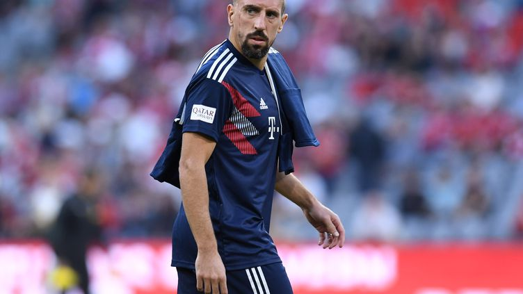 Franck Ribéryjoueà Munich (Allemagne), le 6 octobre 2018. (CHRISTOF STACHE / AFP)