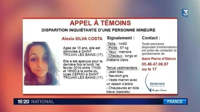 Disparition d'Alexia : l'adolescente de 15 ans introuvable depuis lundi