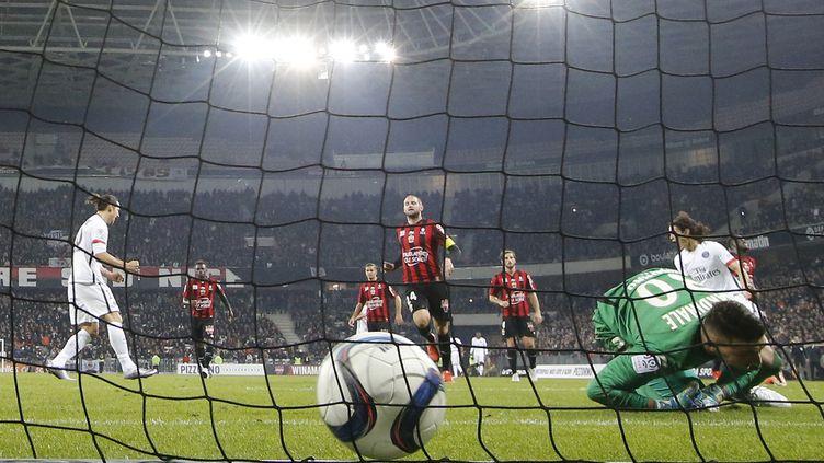 Les Niçois s'étaient inclinés 3-0 face au PSG lors de la 17e journée de L1. (VALERY HACHE / AFP)