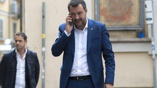 Le Premier ministre italien, Matteo Salvini, le 17 mai 2019, à Milan. (MIGUEL MEDINA / AFP)