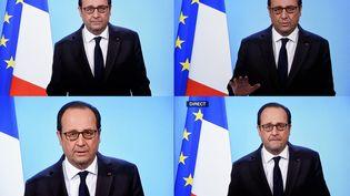 François Hollande a annoncé qu'il renonçait à se représenter à l'élection présidentielle de l'an prochain à la télévision, le 1er décembre 2016. (ALEXANDRE MARCHI / MAXPPP)