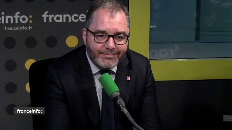 Rachid Temal, sénateur PS du Val d'Oise sur franceinfo, le 5 juillet 2018. (FRANCEINFO / RADIOFRANCE)