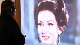 """L'exposition """"Maria by Callas"""" est visible jusqu'au 14 décembre à La Seine musicale, à Boulogne-Billancourt (Hauts-de-Seine). (BERTRAND GUAY / AFP)"""
