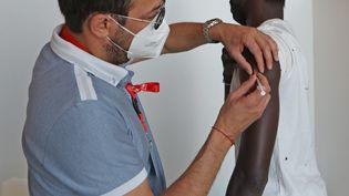 Centre vaccination à Mulhouse, le 31 mai 2021. (DAREK SZUSTER / MAXPPP)
