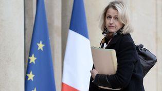 Barbara Pompili, sur les marches de l'Élysée, le 25 avril 2016. (STEPHANE DE SAKUTIN / AFP)