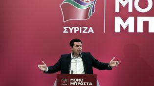 L'ancien Premier ministre grec, Alexis Tsipras, le 29 août 2015 à Athènes (Grèce). (ANGELOS TZORTZINIS / AFP)