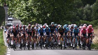 Le peloton du Tour de France 2021. (ANNE-CHRISTINE POUJOULAT / AFP)