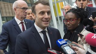 Le président de la République, Emmanuel Macron, le 25 janvier 2018 à Clermont-Ferrand (Puy-de-Dôme). (THIERRY ZOCCOLAN / AFP)
